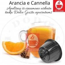 Apelsinų ir Cinamono arbata –  Arbatos kapsulės – Tinka Dolce Gusto aparatams