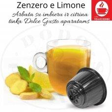 Arbata su imbieru ir citrina –  Arbatos kapsulės – Tinka Dolce Gusto aparatams