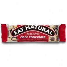 Batonėlis su juoduoju šokoladu, spanguolėmis ir makadamijomis, 45 g