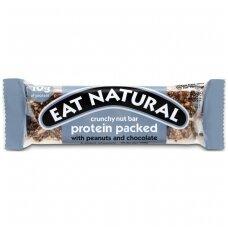 Batonėlis traškus baltymų su žemės riešutais ir šokoladu, 45 g