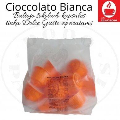 Cioccolato Bianca – Baltojo šokolado gėrimo kapsulės – Tinka DOLCE GUSTO aparatams 2