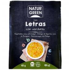 Daržovių ir makaronų sriuba RAIDELĖS, ekologiška, 40 g