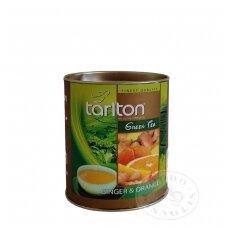 Imbierų ir apelsinų skonio žalioji arbata, 100g