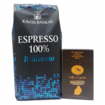 "Coffee Bellissimo 100% Arabika, 1 kg + ""Dodo cukrus"" Coffee Crystals 300g"