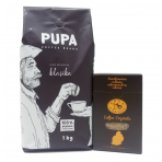 "Coffee beans ""PUPA"", 1 kg + ""Dodo cukrus"" Coffee Crystals 300g"