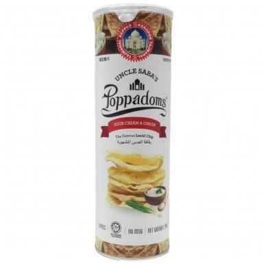Poppadoms – Lęšių traškučiai – Grietinės ir svogūnų skonio, 70 g
