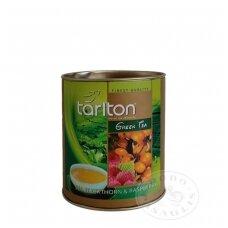 Šaltalankių ir aviečių skonio žalioji arbata, 100g