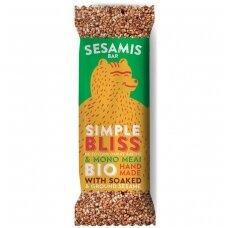 """Sezamų ir medaus batonėlis """"Simple bliss"""", ekologiškas, 40 g"""
