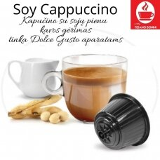 Soy Cappuccino – Cappuccino with soy milk coffee drink soluble coffee drink